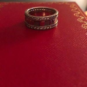 Tiffany & Co. Atlas ring with diamonds